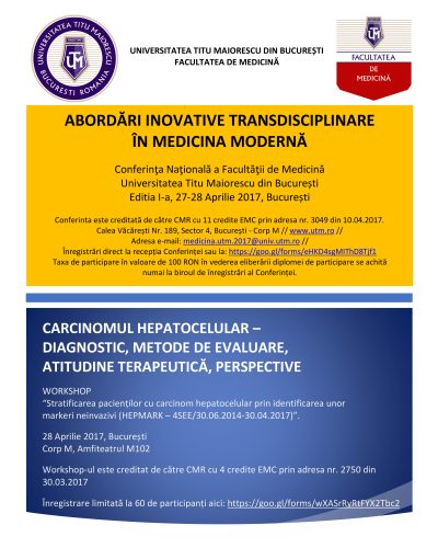 Poster Conferinta nationala Facultatea de Medicina 2017