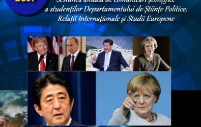 """Sesiunea anuală de comunicări științifice a Departamentului de Științe Politice, Relații Internaționale și Studii Europene cu tema """"Ordinea mondială în epoca post-Război Rece – evoluții și tendințe"""""""