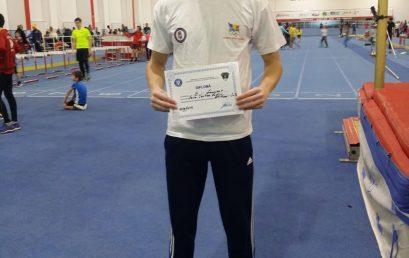 Studentul Sava Cristian de la Facultatea de Drept a ocupat locul 3 la săritura în lungime la Campionatul Național Indoor de Atletism