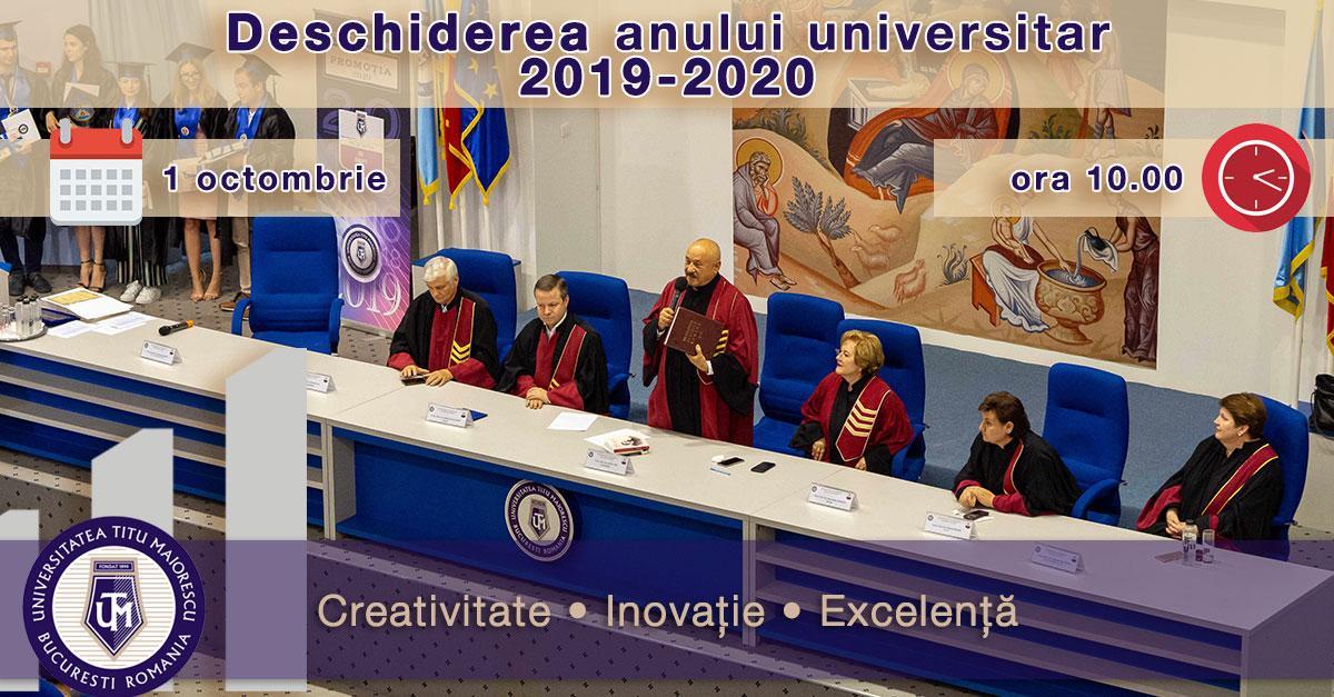 UTM DESCHIDEREA FESTIVĂA ANULUI UNIVERSITAR 2019 Universitatea Titu Maiorescu