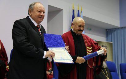 """UNIVERSITATEA TITU MAIORESCU ACORDĂ TITLUL """"DOCTOR HONORIS CAUSA"""" E. S. DR. HERMAN BERKOVITS, CONSULUL ONORIFIC AL ROMÂNIEI ÎN ISRAEL"""