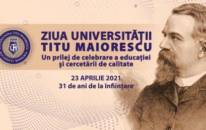 Titu Maiorescu University Day, An Occasion To Celebrate High Quality Education And Research