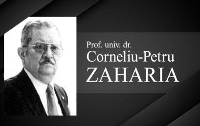 Universitatea Titu Maiorescu anunță cu tristețe plecarea dintre noi a Prof. univ. dr. Zaharia Corneliu-Petru