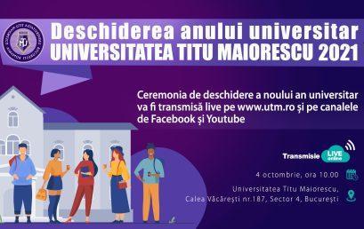 Deschiderea anului universitar 2021- 2022
