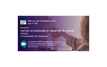 MeetUp cu Centrul de Consiliere și Orientare în Carieră (20 octombrie 2021, ora 17.00)